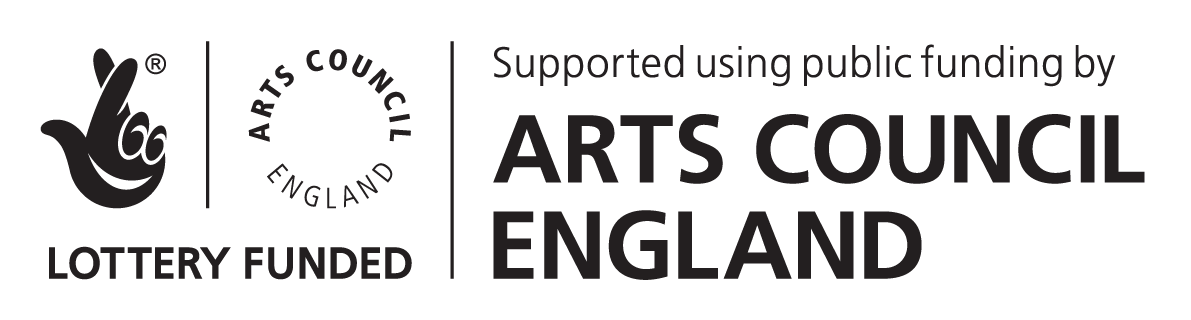 Arts Council England/National Lottery logos
